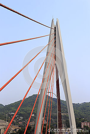 Free The Dongshuimen Cable-stayed Bridge Stock Photo - 39908010