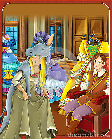 Free The Donkey Skin - Prince Or Princess - Castles - Knights And Fairies - Illustration For The Children Royalty Free Stock Photos - 32080578