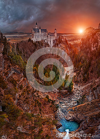 Free The Dream Castle - Neuschwanstein Stock Images - 45059104