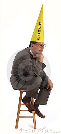 Free The Dunce Royalty Free Stock Photography - 1291517