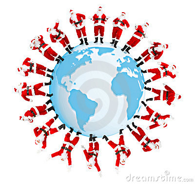 Free The Earth And Santa Stock Images - 11729844