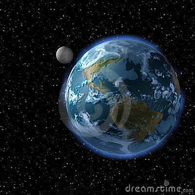 Free The Earth And The Moon From Sp Royalty Free Stock Photos - 2319228