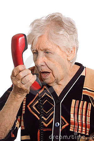 Free The Elderly Woman Speaks On The Phone Stock Photos - 19046253