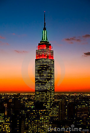 Free The Empire State Building And Manhattan Skylines Royalty Free Stock Photo - 7144025