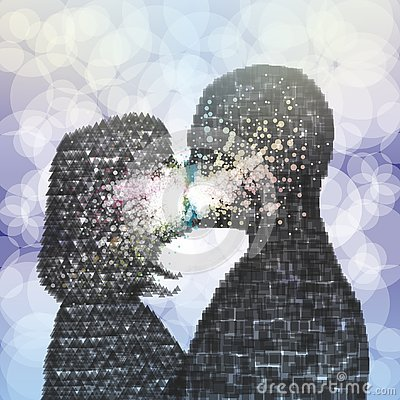 Free The Energy Of The Kiss. Royalty Free Stock Images - 136667909