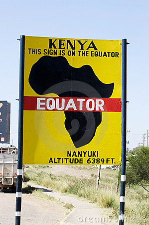 Free The Equator Line Road Sign Stock Photo - 21800420