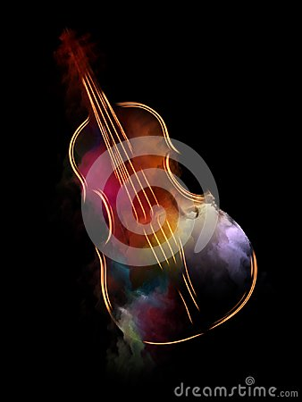 Free The Escape Of Violin Royalty Free Stock Photos - 123550798