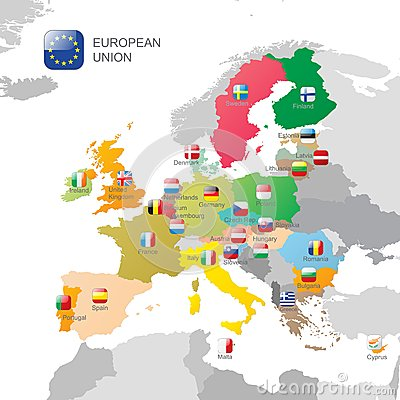 Free The European Union Map Royalty Free Stock Images - 41769259