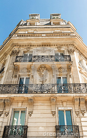 Free The Facade Of Parisian Building, France. Royalty Free Stock Photos - 96466438