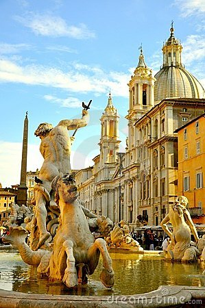 Free The Famous Piazza Navona, Rome, Italy Royalty Free Stock Photo - 22771475