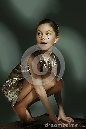 Free The Fashion Portrait Of Young Beautiful Teen Girl At Studio Stock Images - 109538294