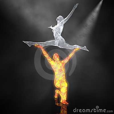 Free The Fire And Ice Ballet - 01 Stock Photos - 2282243