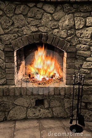 Free The Fireplace Royalty Free Stock Images - 7696499