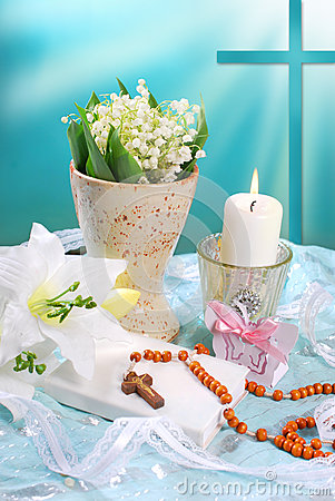 Free The First Holy Communion Still Life Stock Photo - 40769780