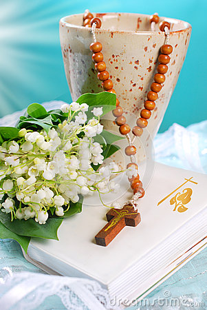 Free The First Holy Communion Still Life Stock Photography - 40769782