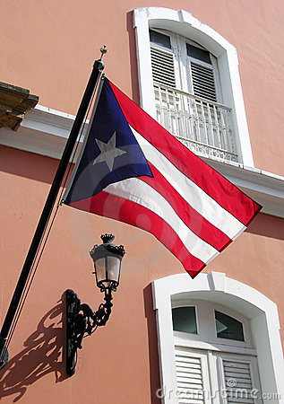 Free The Flag Of Puerto Rico Royalty Free Stock Photography - 6056307
