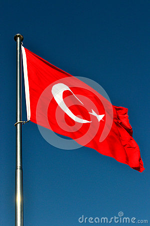 Free The Flag Of Turkey Stock Photo - 41834660
