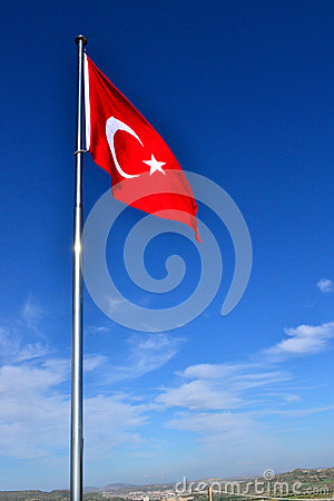 Free The Flag Of Turkey Royalty Free Stock Photo - 41834665