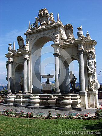 Free The Fontana Del Gigante,Immacolatella,Fountain Of The Giant In Naples-Italy Royalty Free Stock Images - 67071269