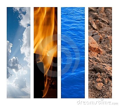 Free The Four Elements Royalty Free Stock Photography - 9486917
