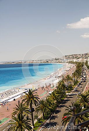 Free The French Riviera Nice France Beach Royalty Free Stock Images - 26240849
