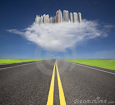 Free The Future City With Cloud Concept Royalty Free Stock Photo - 16016805