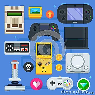 Free The Gamer Icon Set Stock Photo - 58366120