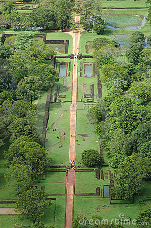 Free The Gardens Of Sigiriya,ancient Fortress Stock Images - 12522534