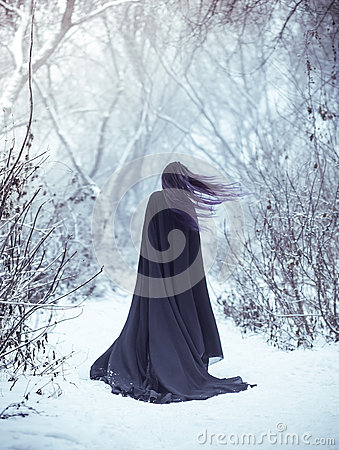 Free The Girl A Demon Walks Alone Stock Image - 86004721