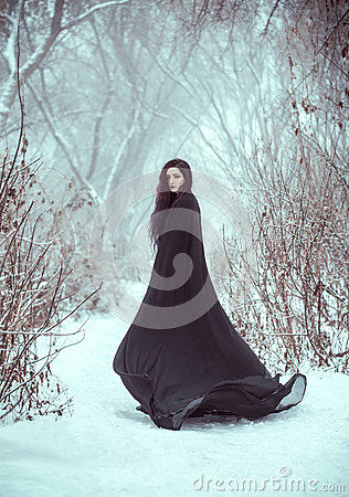 Free The Girl A Demon Walks Alone Royalty Free Stock Images - 86004859