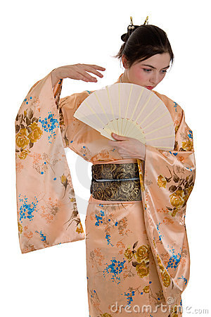 Free The Girl In A Kimono Royalty Free Stock Photography - 13324197