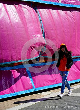 Free The Girl In The Pink Tent Stock Photos - 112742503