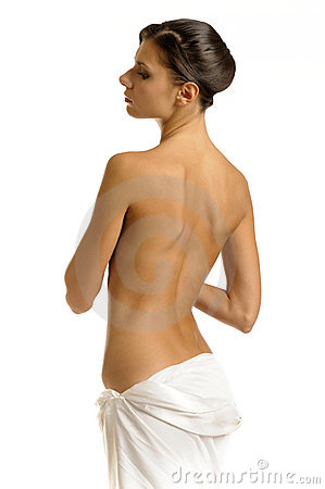 Free The Girl In Towel With Naked Back Royalty Free Stock Photos - 7294908