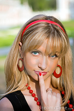 Free The Girl Showing Gesture - Stock Image - 5131011