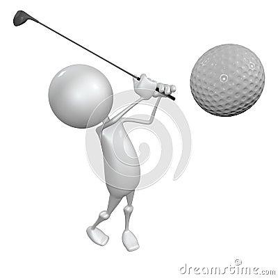 Free The Golfer Stock Photo - 21722070