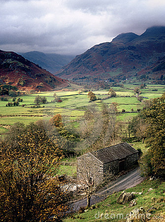 Free The Greater Langdale Valley, Cumbria Royalty Free Stock Photos - 22983008