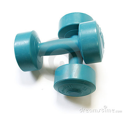 Free The Green Dumbells Royalty Free Stock Photos - 14168458