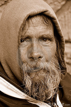Free The Homeless Man Look Royalty Free Stock Photography - 13914447