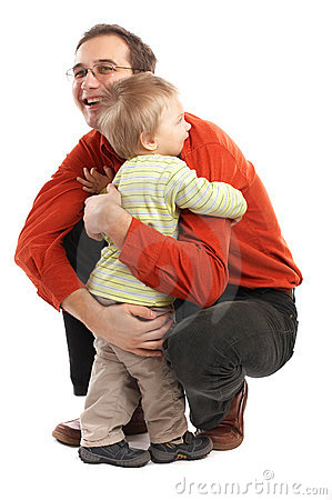 Free The Hug - Father And Son Stock Photography - 2084832