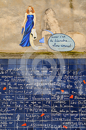 Free The I Love You Wall Of Paris (Le Mur Des Je T Aime) On Which  I Love You  Features 311 Times In 250 Languages Royalty Free Stock Photography - 39940427