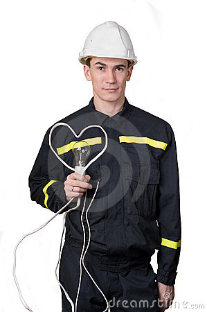 Free The In Enamoured Electrician Stock Image - 12600951