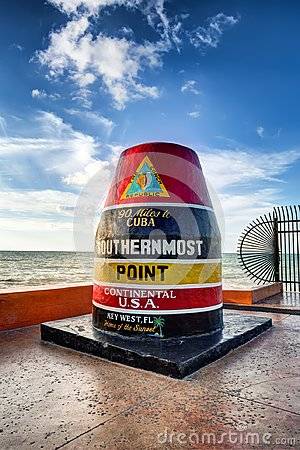 Free The Key West Buoy Sign Royalty Free Stock Photography - 99626047