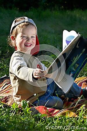 Free The Kid Studies To Read Stock Photo - 437160
