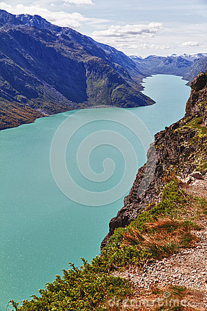 Free The Lake Gjende In Norway Royalty Free Stock Photo - 24786145