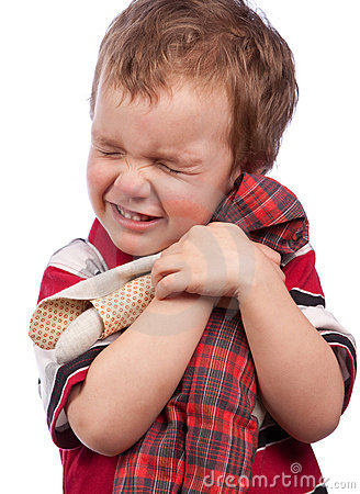 Free The Little Boy Cuddle Toy Royalty Free Stock Photography - 18481347
