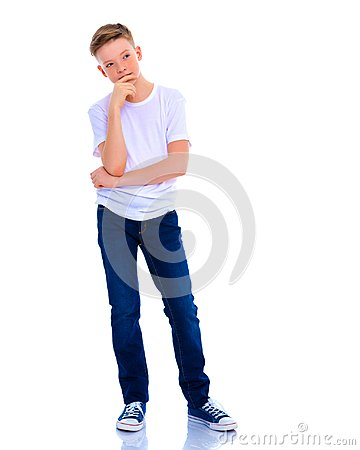 Free The Little Boy Is Thinking. Royalty Free Stock Photos - 116699228