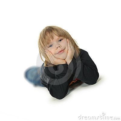 Free The Little Boy Lays On A Floor Royalty Free Stock Photo - 13497885