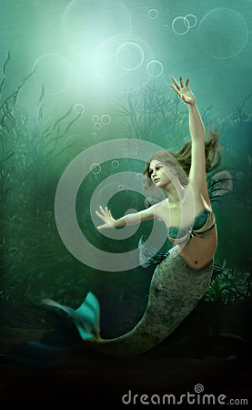Free The Little Mermaid Royalty Free Stock Photography - 32873567
