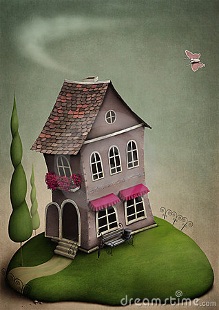 Free The Little Toy House On The Hill Stock Photo - 13910970