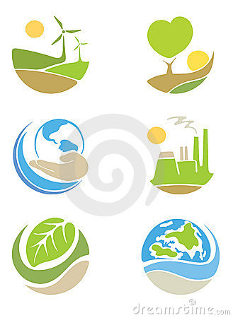 Free The Logos On The Theme Ecology Royalty Free Stock Photography - 21837917